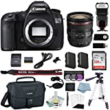 Canon EOS 5DSR DSLR Camera Kit With EF 24-70mm f/2.8L II USM Lens + Canon CarePak PLUS 13 Month Damage Protection + Professional Accessory Bundle - Including EVERYTHING You Need To Go Pro