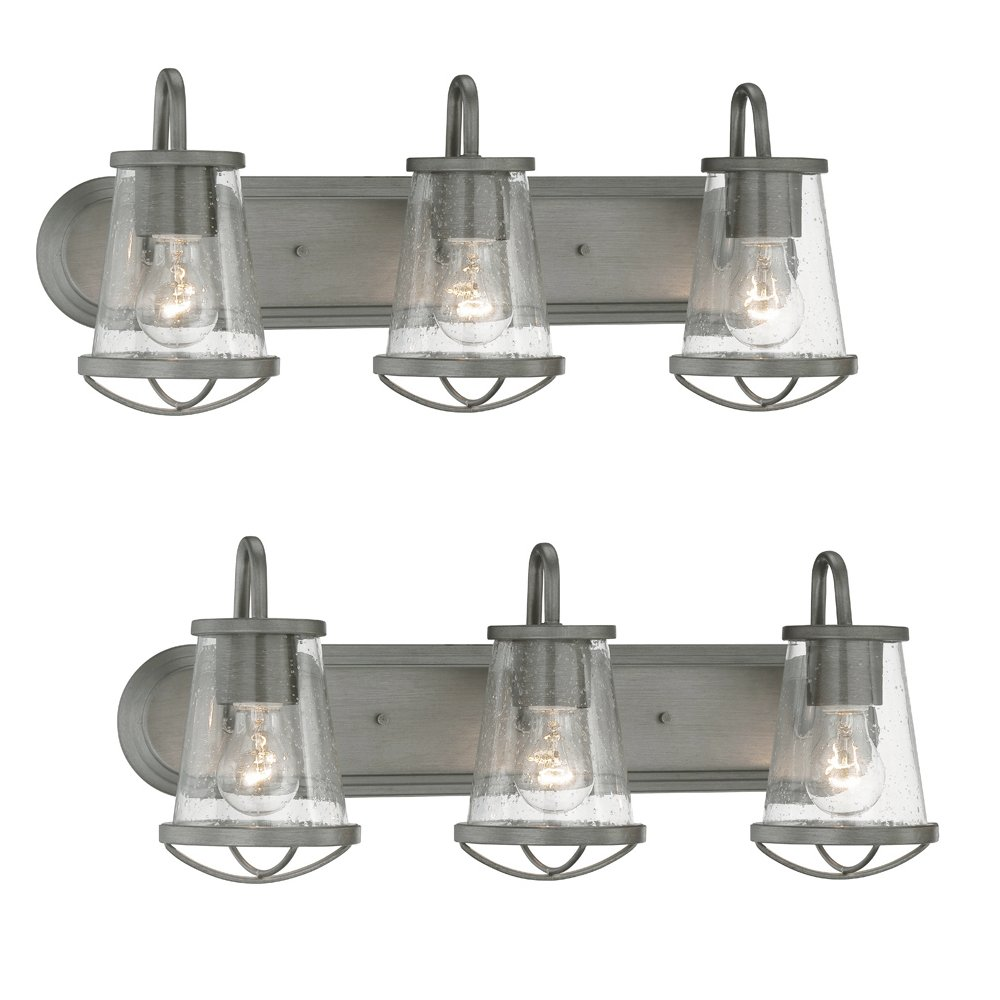 Designers Fountain 87003 Wi Darby 3 Light Bath Bar Weathered Iron 2 Pack Com
