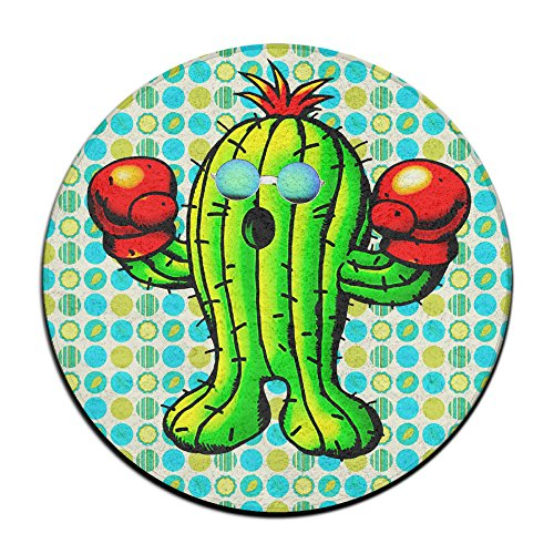 Boxing Cactus With Boxing Gloves Sunglass Non-slip Mats Circular Carpet Mats Dining Room Bedroom Carpet Floor Mat 23.6 - Ireland Sunglasses Baby