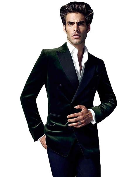 Amazon.com: YZHEN - Traje de terciopelo para hombre: Clothing