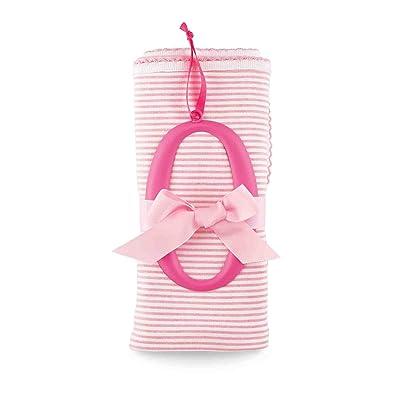 Mud Pie O Cotton Receiving Blanket-Pink