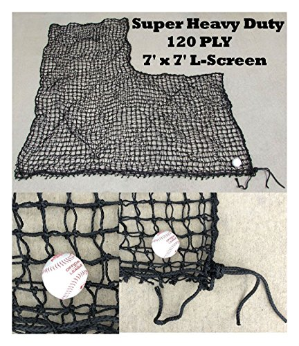 Replacement L Screen Net 7' x 7' 120PLY XX Heavy Duty Batting Baseball Pitching by Unbranded*
