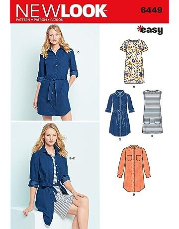 db3d043a212 New Look 6449 Un Patron de Couture Facile pour Femme Robe et Robe en Tricot