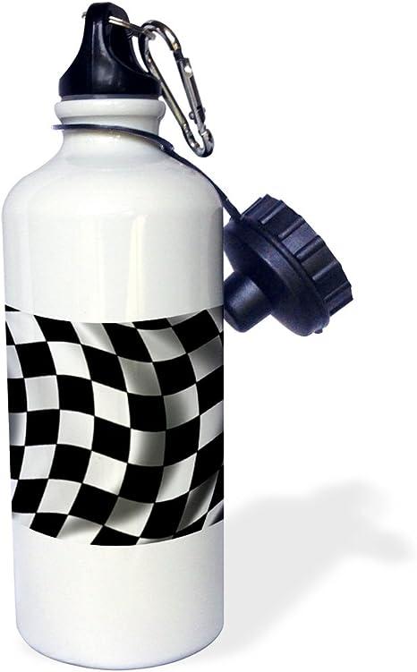 Moto Racer H2O Bottle White