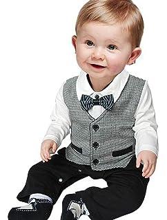 c768dcae0 ARAUS Baby Boy Gentleman Christening Suit Newborn Bow tie Romper One ...