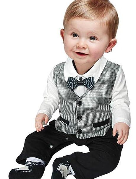 ARAUS Mameluco Caballero para Bebé Mono Camisa Manga Larga + Pantalones Larga Pelele de Primavera Niños, 6-18 Meses: Amazon.es: Ropa y accesorios