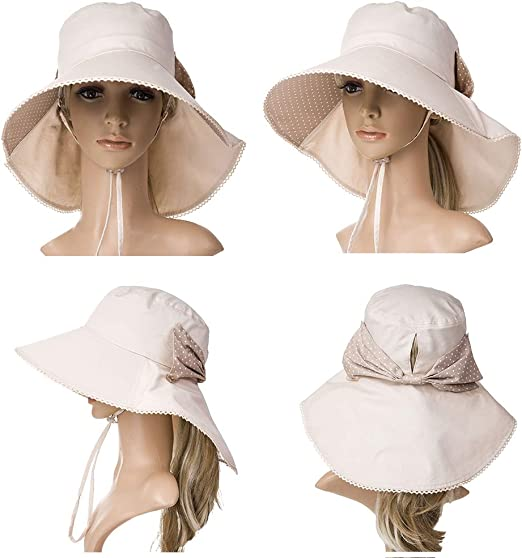 CW/_ Toddler Baby Girl Summer Wide Brim Sun Protection Beach Cotton Hat Cap Effic