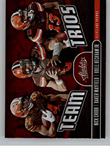 2019 Absolute Team Trios Football #6 Baker Mayfield/Nick Chubb/Odell Beckham Jr. Cleveland Browns Official NFL Trading Card From Panini America
