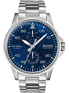 09f1a01dd Amazon.com: Boss AVIATOR 1513515 Mens Wristwatch Classic & Simple ...