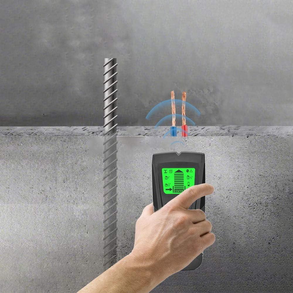 JuneJour Ortungsger/ät Sensor Wandscanner 3 in 1 Elektronische Stud Sensor Locator mit Metall und AC-Live-Wire-Detektor