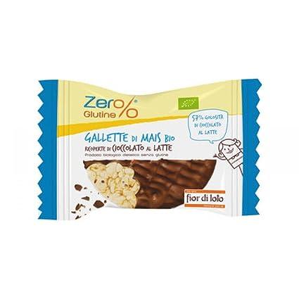 Fior di Loto Cero% de maíz pasteles y chocolate con leche 32g Orgánica Sin Gluten