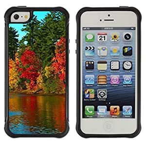 """Hypernova Defender Series TPU protection Cas Case Coque pour Apple iPhone SE / iPhone 5 / iPhone 5S [Naturaleza Hermosa Forrest Verde 40""""]"""