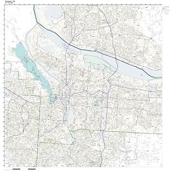 Amazon.com: ZIP Code Wall Map of Portland, OR ZIP Code Map Laminated ...