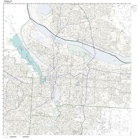 Amazon Com Zip Code Wall Map Of Portland Or Zip Code Map Laminated