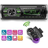 NWOUIIAY Autoradio Bluetooth Radio Pour Voiture avec 2 Ports USB Charger Lecteur Mains Libres Pour FM/MP3/ USB/SD/WMA/AUX/Télécommande