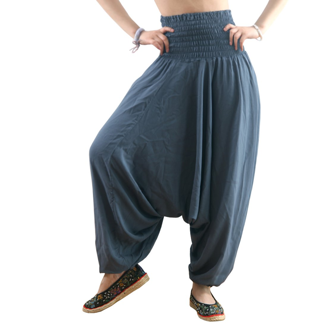 MissShorthair Women's Harem Pants Baggy Yoga Sports Workout Dancing Trousers H181C-2