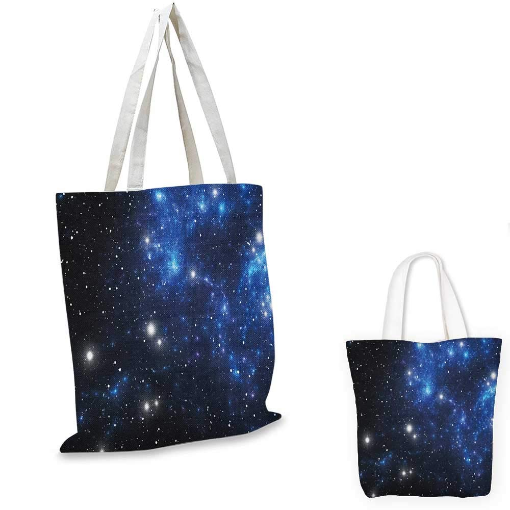 12x15-10 Constellation canvas messenger bag Realistic Celestial Gemini Leo Pisces Sagittarius Galactic canvas beach bag Dark Blue Pale Blue Purple