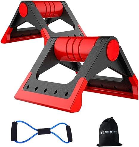 Deyan 1 Paire de Support de Barre de Poitrine Push-up avec poign/ées antid/érapantes en Mousse pour la Presse de Poitrine Home Gym Fitness Exercise Equipment