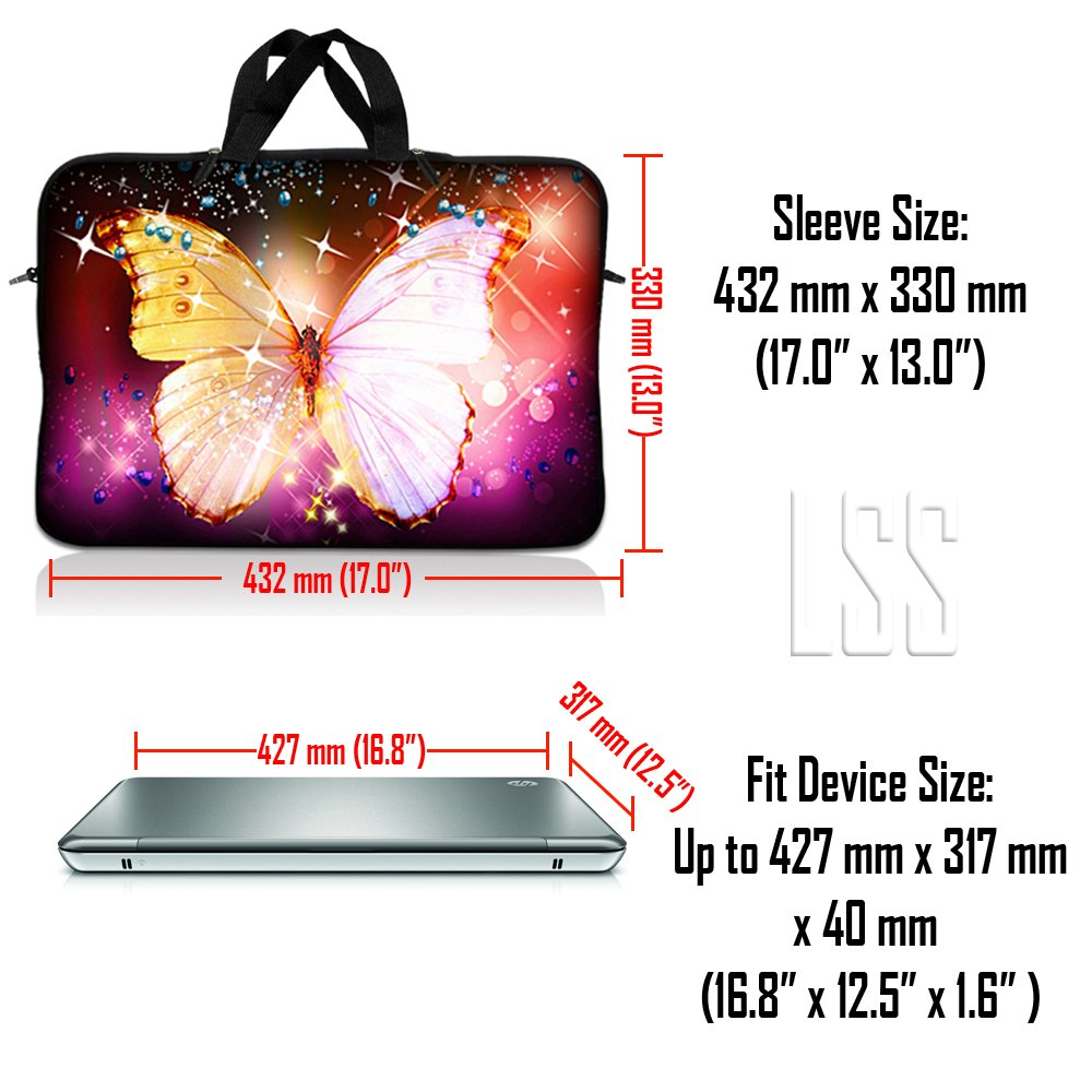 Dell Almond Trees Hp GW Asus Toshiba Acer Sony LSS 17 inch Laptop Sleeve Bag Carrying Case Pouch w// Handle /& Adjustable Shoulder Strap for 17.4 17.3 17 16 Apple Macbook