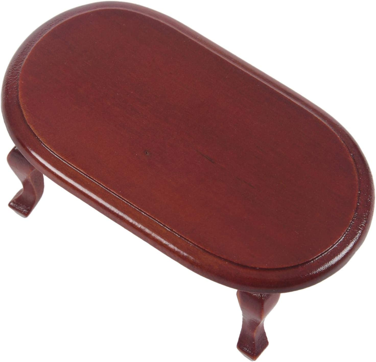 Andifany 1:12 Dollhouse Miniature Coffee Table Living Room Furniture Doll House Red Table