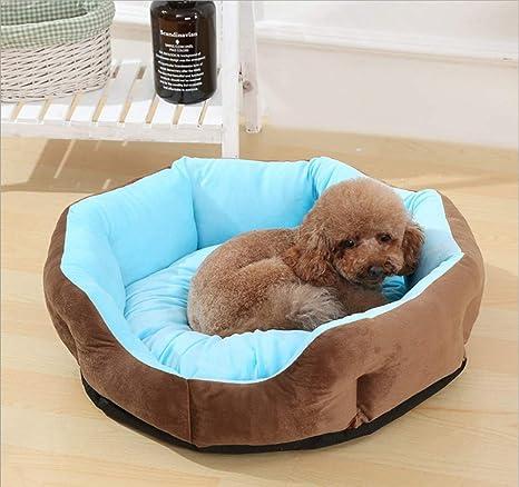 GZDXHN Casa de Perro Nido de algodón Redondo para Interiores Gato Caliente para la Basura Perro