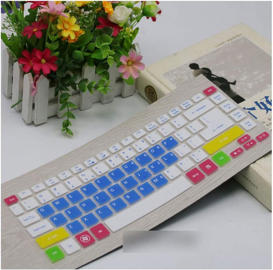 14 Inch Keyboard Cover Protector Compatible for Acer Aspire ES1 411 ES1 431 TMP245 E5 472G 4755G E5 471 421 E1 472 ES1 411 V5 471,Candyblue
