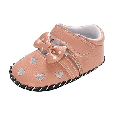 Newborn Toddler Baby Girls Shallow Bowknot Slippers Soft Sole Single Shoes Best