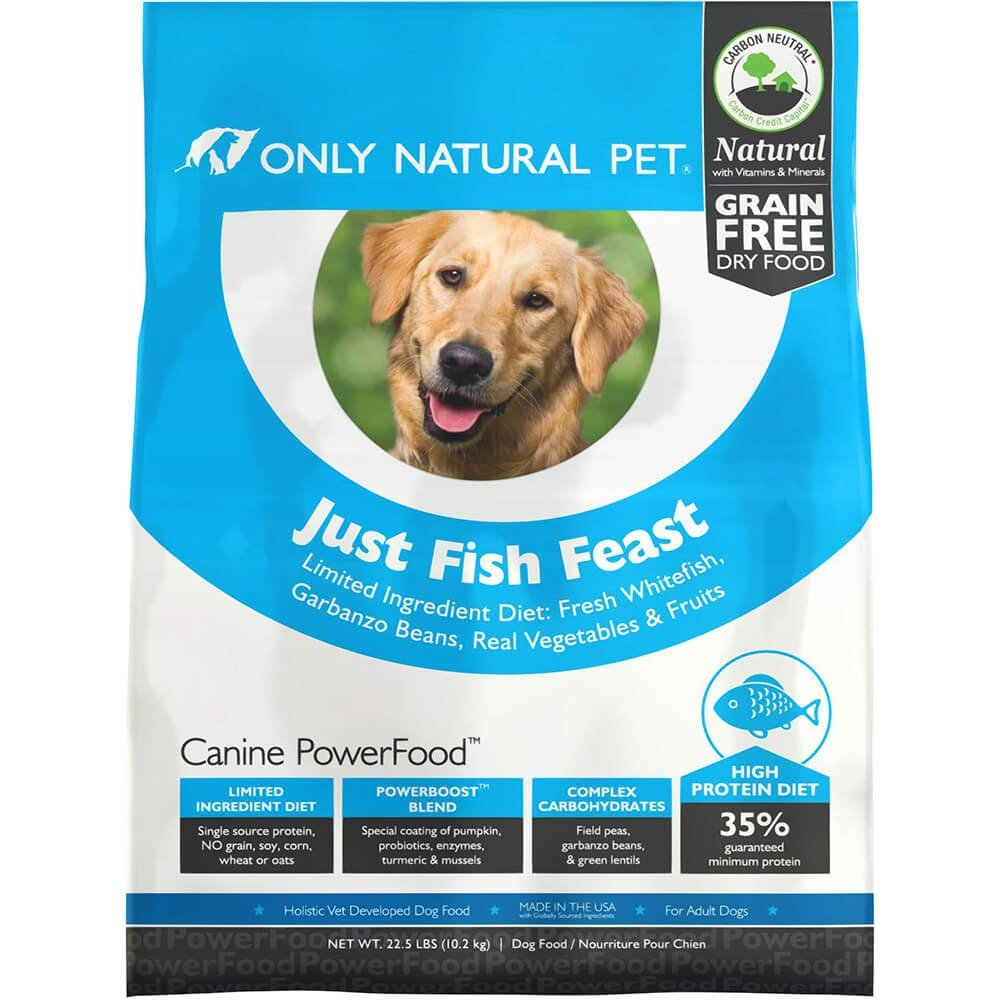 Amazon.com: Only Natural Pet Dry Dog Food Canine PowerFood Formula ...