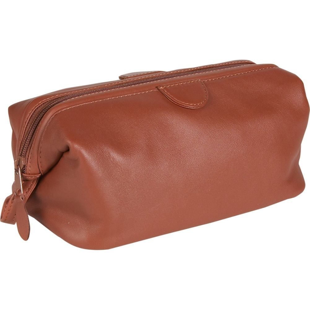 Royce Deluxe Toiletry Bag - Leather - Tan