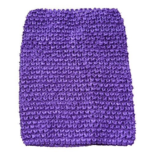 Crochet Headband (KADIWOW Crochet Tutu Tops For Kids (9 INCH, Purple))