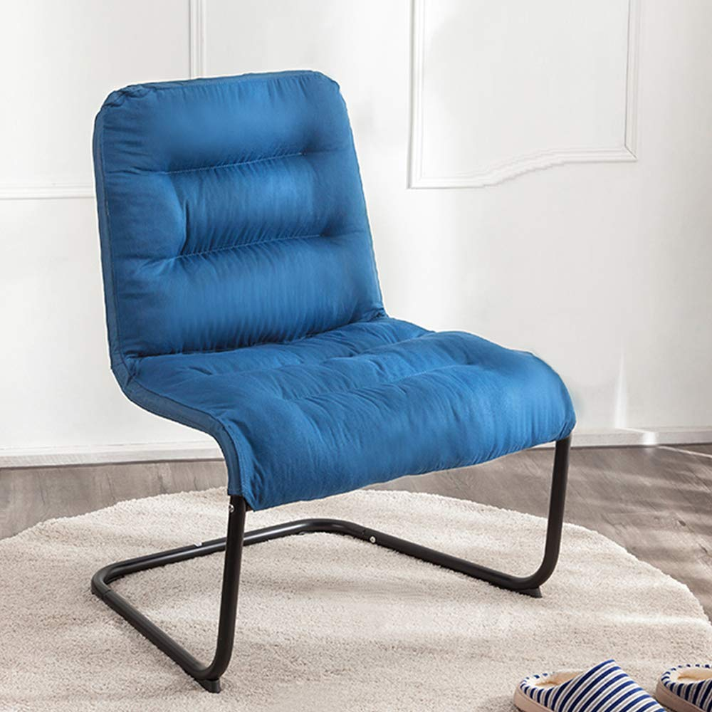 Zenree Comfortable Bedroom Chairs, Folding Reading Chair, Padded Comfy Lounge Chair Soft Cushion Living Room, Apartment, College Dorm Blue