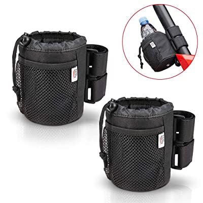 2 pcs UTV Roll Bar Cup Holder Walker Stroller Rollator Wheelchair Drink Holder Collapsible Water Bottle Holder Adjustable Compatible with Kawasaki Mule RZR Ranger1000 900 800 700 500 Maverick X3: Automotive