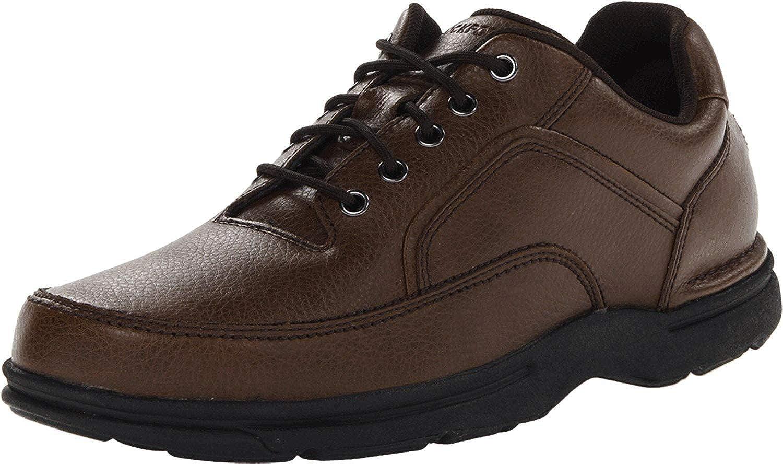 Rockport Men's Eureka Walking Shoe, Brown, 12 2E US