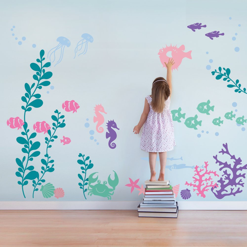 Under the Sea Wall Decals - scheme B - by Simple Shapes