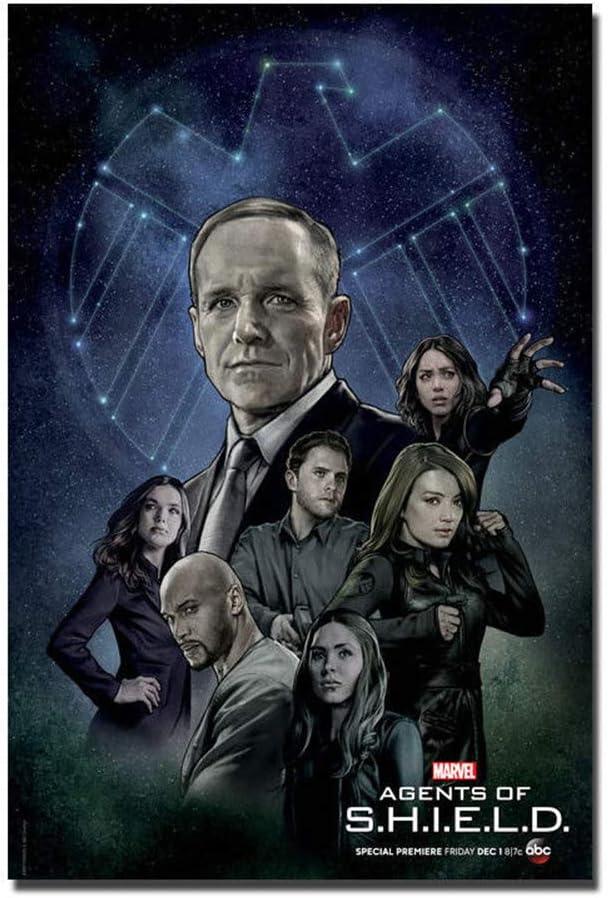 Marvels Agents of SHIELD Season 5 Wall Art Poster Canvas Painting Print Home Decoración de pared -20X28 pulgadas sin marco 1 piezas