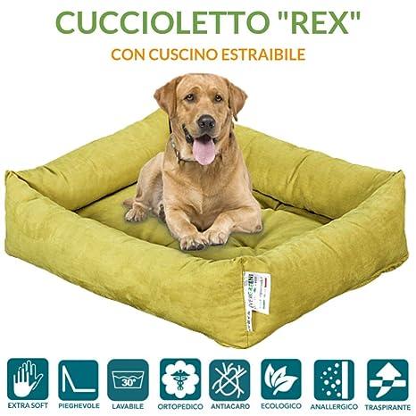 evergreenweb – Cama para perros 90 x 115 cm de tamaño Grande, Relleno de Lazo