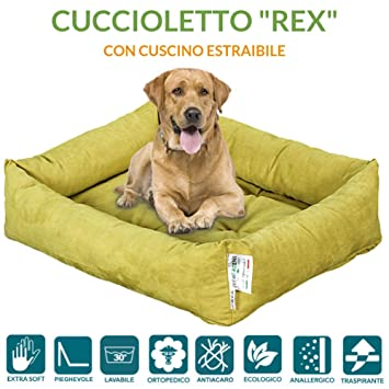 evergreenweb – Cama para Perros 65 x 85 cm de tamaño Media, Relleno de Lazo