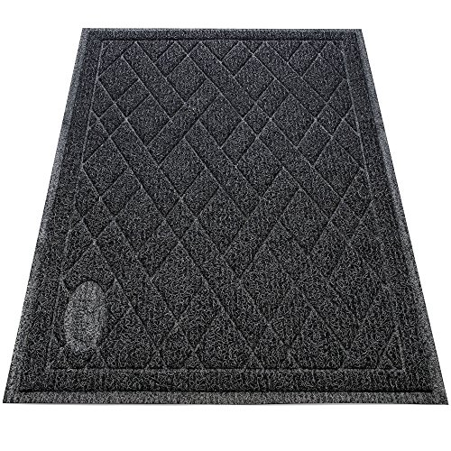 Pawkin Phthalate Free Cat Litter Mat - Patented Design with Litter Lock Mesh - Extra Large - Durable - Easy to Clean - Soft - Fits Under Litter Box - Litter Free Floors