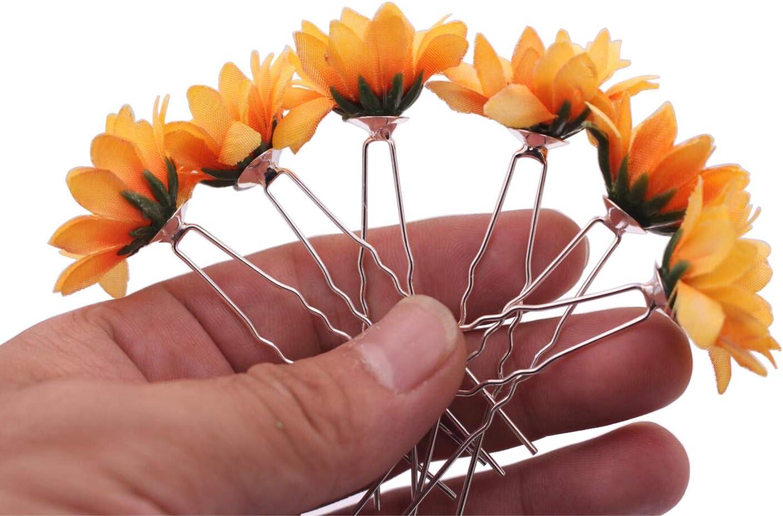 Daisy Fleur Décoration Jaune Tournesol Fête Bandeau Cheveux épingles Bandeau Clips