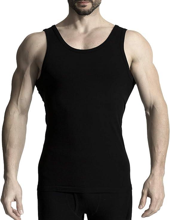 MD Camisetas de bambú para Hombres Camisetas sin Mangas con Cuello Redondo, Transpirables y Suaves Humedad Que Absorbe Las Camisetas: Amazon.es: Ropa y accesorios