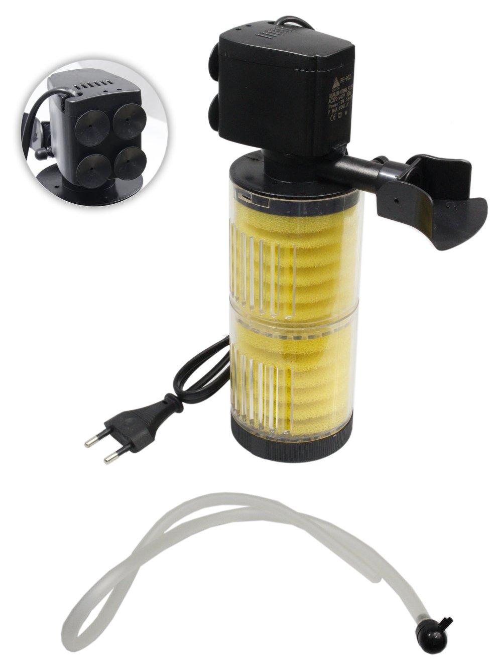 Filtro interno per acquario 9 watt 800L/H filtraggio meccanico pompa acqua spugna filtrante immergibile FE-902 A24 Asian Star