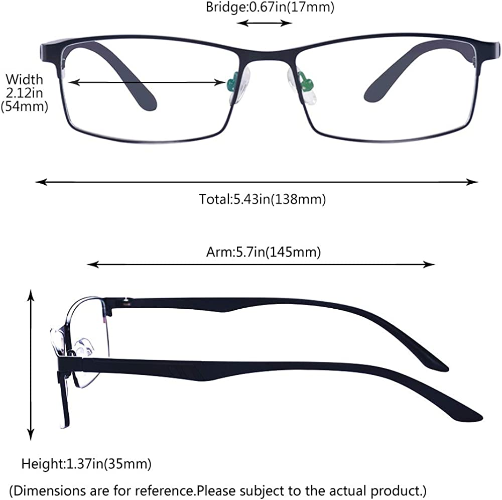 1.0 to 4.0 for Men Women THESE ARE NOT READING GLASSES ALWAYSUV Black Nearsighted Shortsighted Myopia Glasses