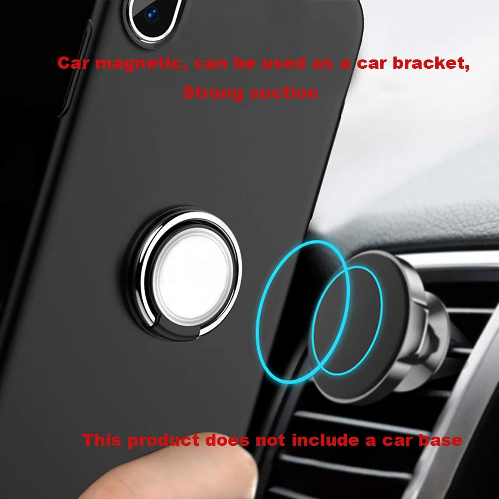 SUGEER Phone Ring Holder Finger Kickstand 360° Rotation Metal Ring Grip for Magnetic Car Mount Compatible with All Smartphone-Gun -Finger Ring Stand, Phone Ring Kickstand