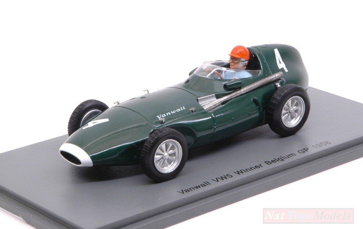 comprar marca Spark Model S4872 VANWALL VW5 T.Brooks 1958 N.4 N.4 N.4 Winner Belgium GP 1 43 Die Cast Compatible con  minoristas en línea