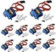 J-Deal® 10x Pcs SG90 Micro Servo Motor TowerPro 9G RC Robot Helicopter Airplane Boat Controls