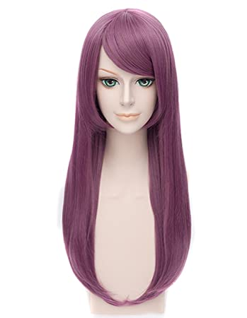 Icoser Tokyo Ghoul Rize Kamishiro Anime Cosplay Wigs Purple Long Synthetic Hair