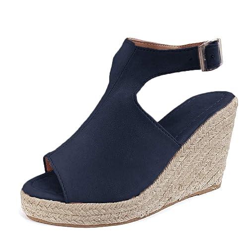 en con sandalias moda con el de tobillo Alpargatas correa mujer para QBCWredxo