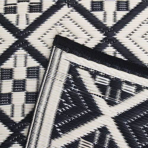 Mad Mats Scotch Indoor Outdoor Floor Mat, 4 by 6-Feet, Black and White