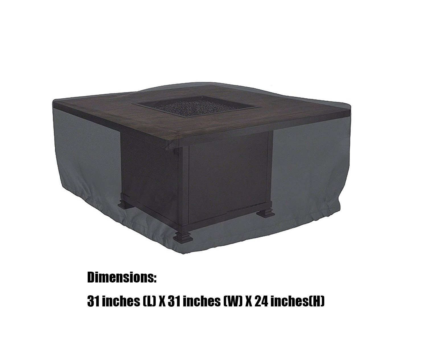 Cookingstar Gas firepit cover, 31 inches (L) X 31 inches (W) X 24 inches (H)