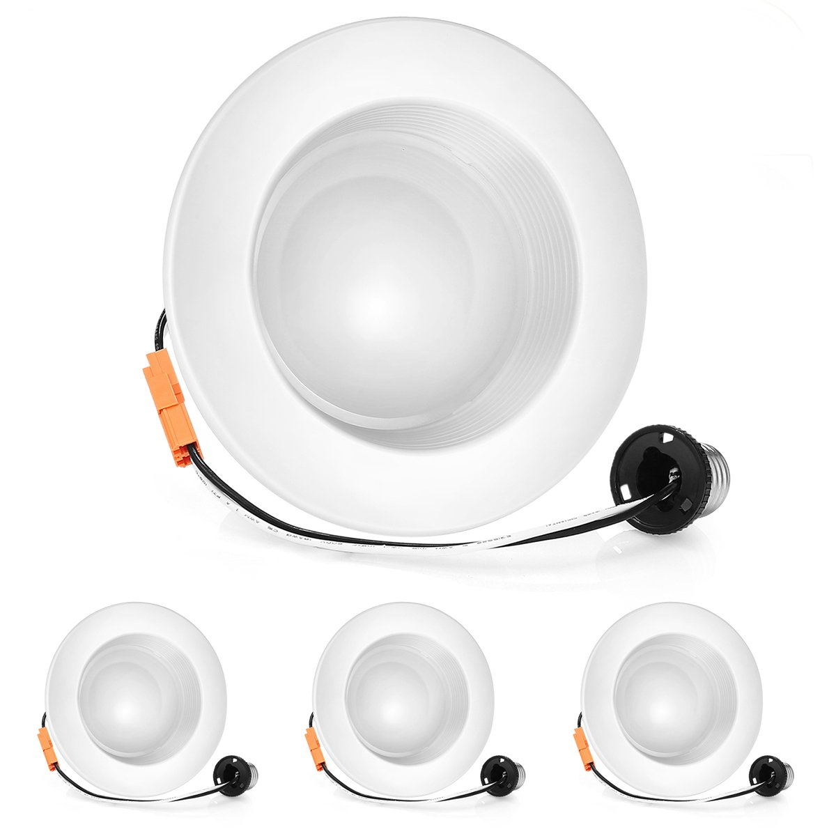 VANSENG 4inch Dimmable LED Downlight, 11W (100W Replacement) 5000K (Daylight White), Energy Star, UL-Listed, LED Ceiling Light - 850Lumens Recessed LED Downlight (4 Pack)